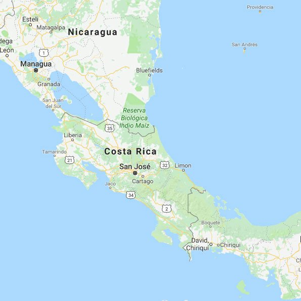 Costa Rica Sun Tours Map