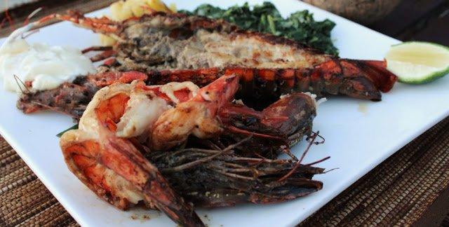 Manta Resort Tanzania Seafood Dinner