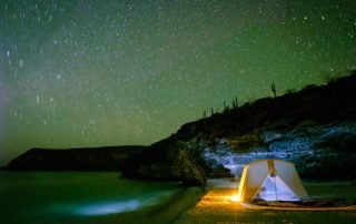 colossus tent camping in Baja California Sur with Todos Santos Eco Adventures