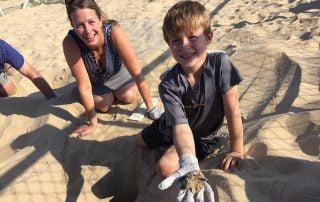 Sea Turtle Release Baja Todos Santos Family