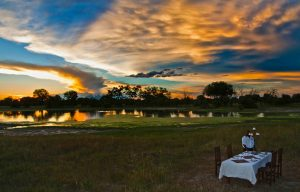 Bush dinner at Bomani Tented Lodge Hwange National Park