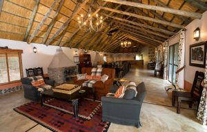 Camelthorn main lodge in Hwange