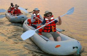 Canoeing at Zambezi Sands is fun (and safe) for all ages and abilities