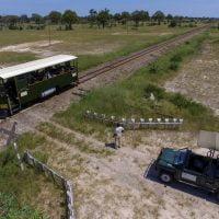 The Elephant Express departing Ngamo siding near Camelthorn and Bomani Lodges