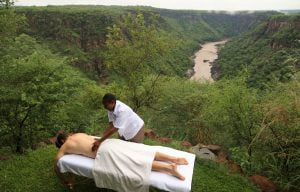 Massage on the edge of the Batoka Gorge Victoria Falls
