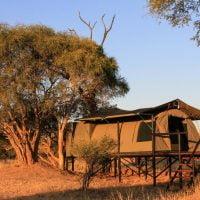 Jozibanini Camp tents adventure safari Hwange Imvelo