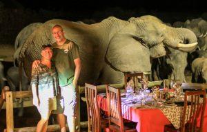 Epic elephant photo Nehimba Lodge deck