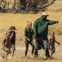 walkiing safaris with kids hwange