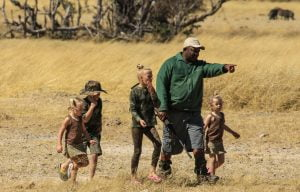 walkiing safaris with kids hwange