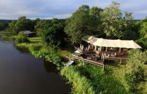 Zambezi Sands luxury tented camp main lodge