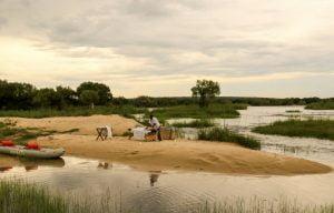 Spa massage on Zambezi River