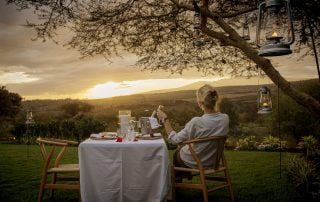 View from Acacia Farm Lodge with Albatros East Africa
