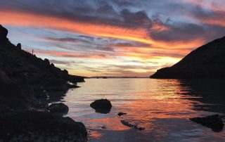 Colossus Camping sunset with Todos Santos Eco Adventures by Crystal Viks