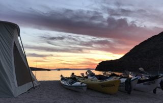 Colossus Camping beach view with Todos Santos Eco Adventures by Crystal Viks
