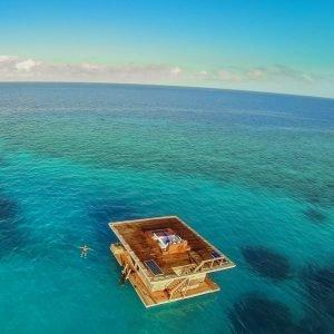 Manta Underwater Room aerial