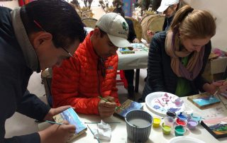 Tropic Ecuador Tigua painting class