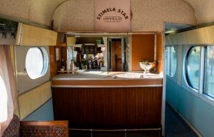 Stimela Star's vintage bar car. Photo: Mark Sissons