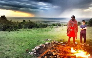 Campefire time at House in the Wild with Albatros East Africa