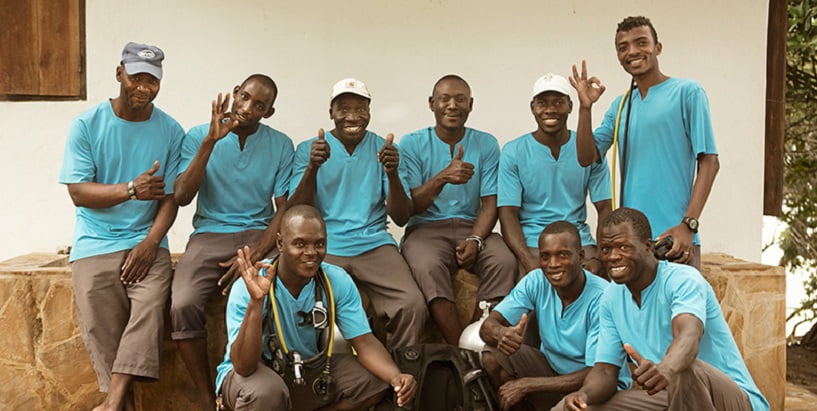 The Manta Resort diving staff Pemba Island, Tanzania