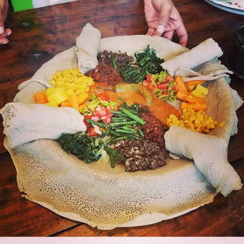 A vegan Ethiopian feast