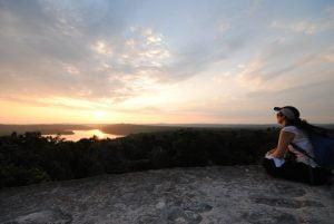 Maya-Trails-guatemala-Yaxha-temple-sunset
